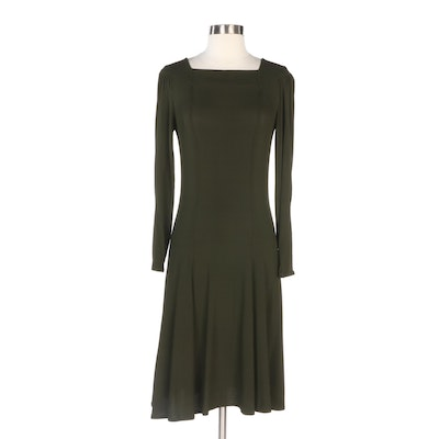 Jean Paul Gaultier Classique Forest Green Knit Dress