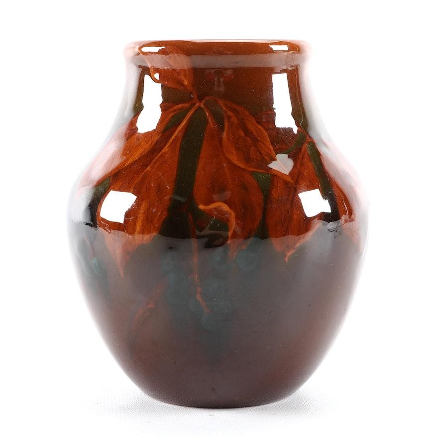 Grace M. Hall Rookwood Pottery Standard Glaze Botanical Vase, 1903