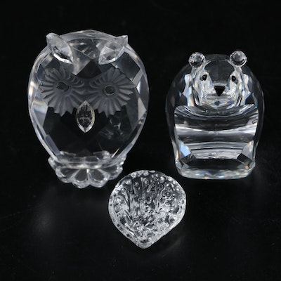Swarovski Crystal and Other Animal and Fruit Figurines
