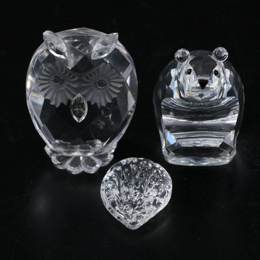 Swarovski Crystal and Other Animal and Fruit Figurines