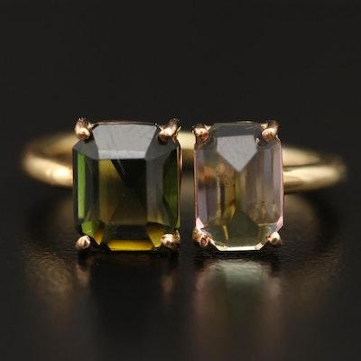 18K Open Shank Tourmaline Ring