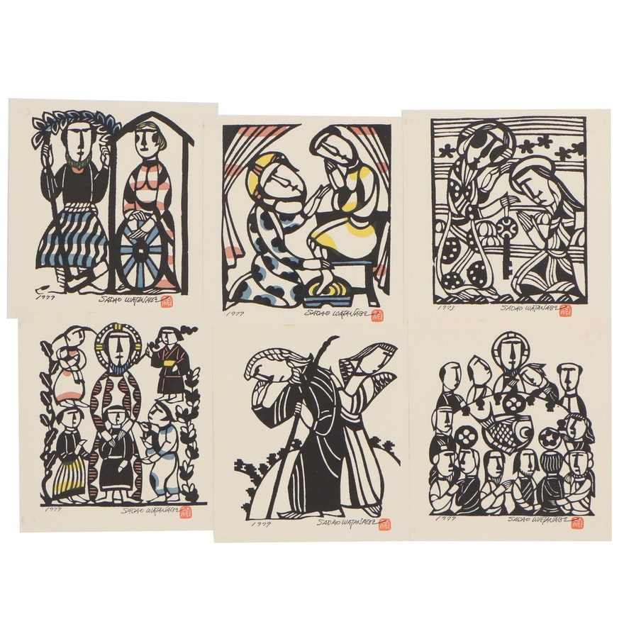 Figurative Lithographs After Sadao Watanabe