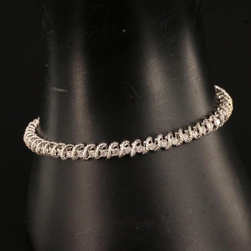 10K Diamond Line Bracelet