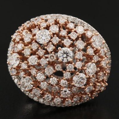 14K Two-Tone 3.65 CTW Diamond Openwork Ring
