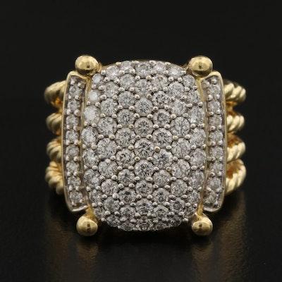 "David Yurman ""Wheaton"" 18K 1.13 CTW Diamond Ring"