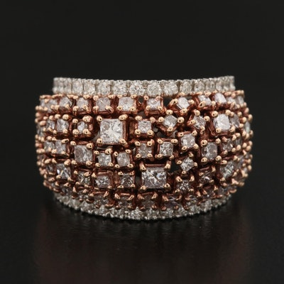 18K 2.07 CTW Diamond Dome Ring