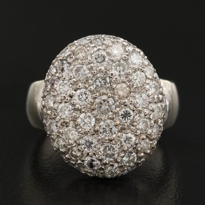 14K 1.45 CTW Diamond Disk Ring
