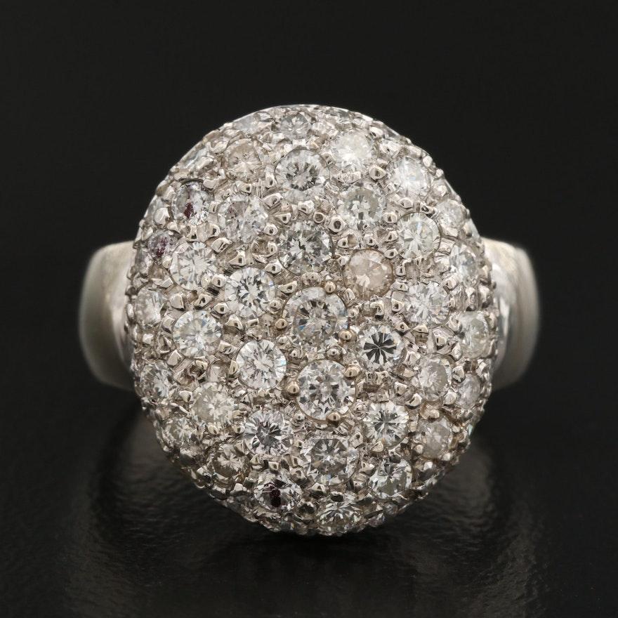14K 1.45 CTW Diamond Disk Ring
