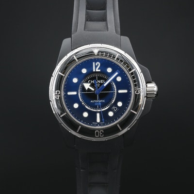 Chanel J12 Marine Ceramic, Black PVD and Stainless Steel Automatic Wristwatch
