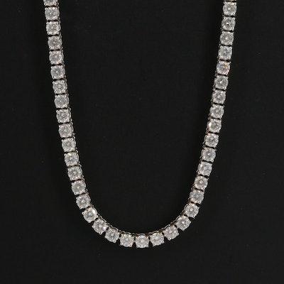 18K 9.12 CTW Diamond Rivière Necklace