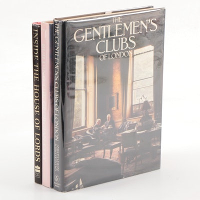 "Nonfiction Books Including ""The Gentlemen's Clubs of London"" by Anthony Lejeune"
