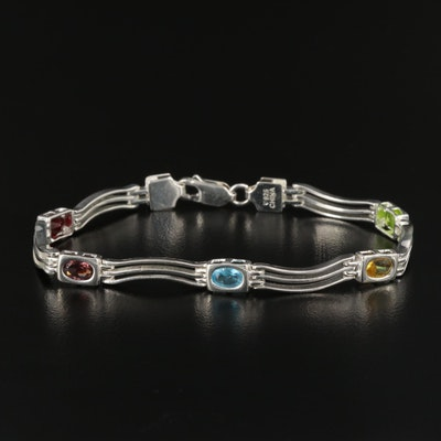 Sterling Silver Glass Wave Bracelet