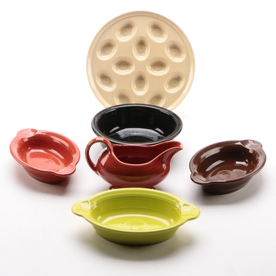 """Homer Laughlin """"Fiesta"""" Serveware and Baking Dishes in Lemongrass and Others"""