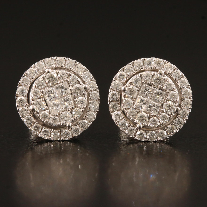14K 1.00 CTW Diamond Stud Earrings