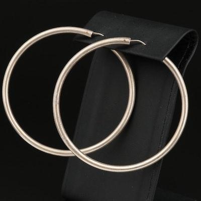 Sterling Tube Hoop Earrings
