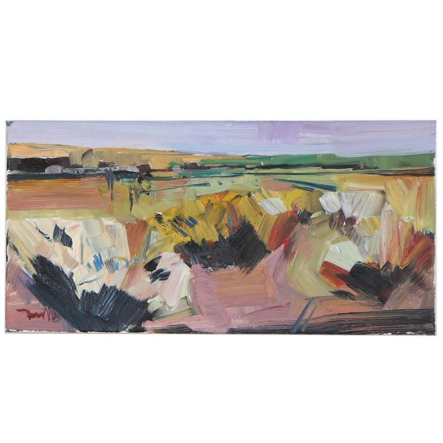 """Jose Trujillo Oil Painting """"Desert Morning"""", 2019"""