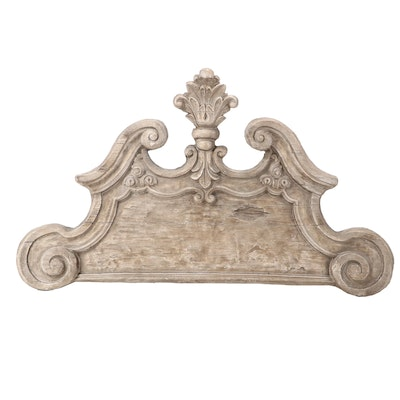 Uttermost Neoclassical Style Painted Composite Faux-Architectural Pediment