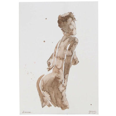 Anastasija Serdnova Watercolor Figure Painting
