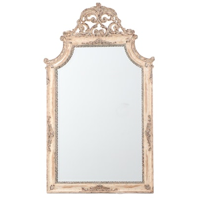 Uttermost Baroque Style Painted and Molded Composite Wall Mirror