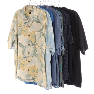 Men's Tommy Bahama Silk Short Sleeve Button-Up Shirts and Cotton Button-Up Shirt
