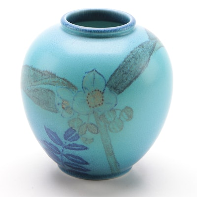 Kataro Shirayamadani and Louise Abel Rookwood Pottery Matte Glaze Vase, 1932
