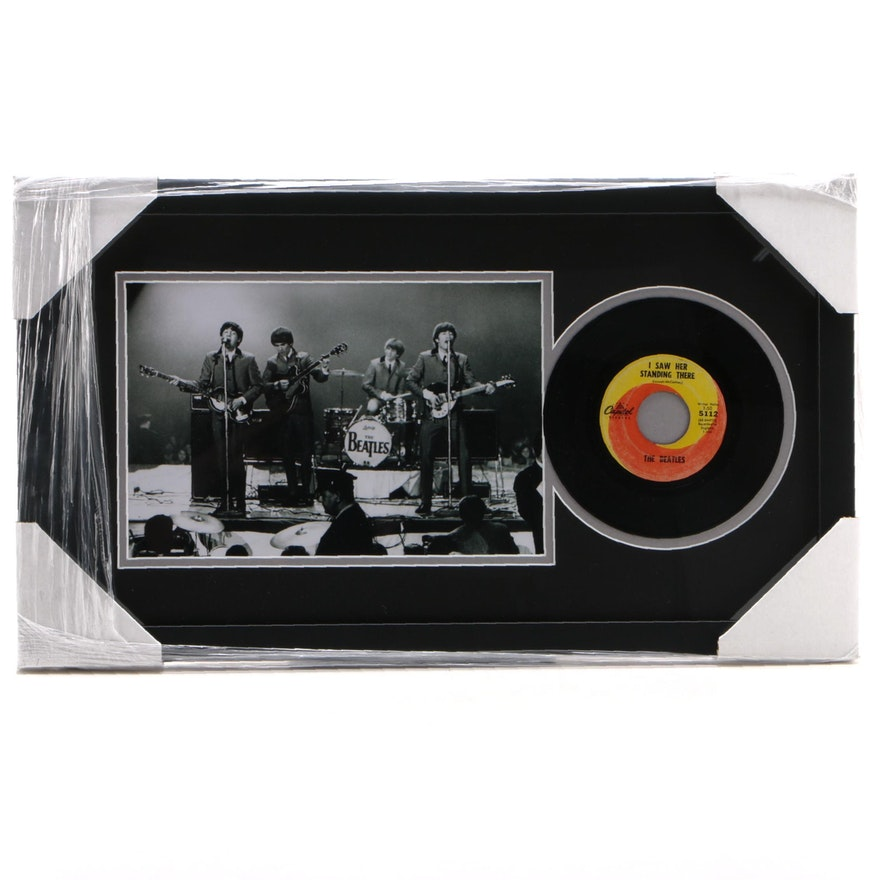 "The Beatles ""I Saw Her Standing There"" 45 RPN Record Photo Print Display, CEI"