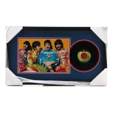"The Beatles ""Get Back"" 45 RPN Record Photo Print Display, CEI"