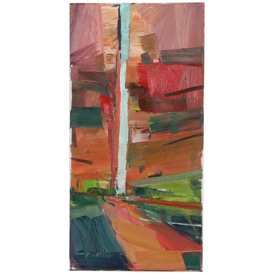 "Jose Trujillo Oil Painting ""Canyon's Peaceful Shade"", 2019"