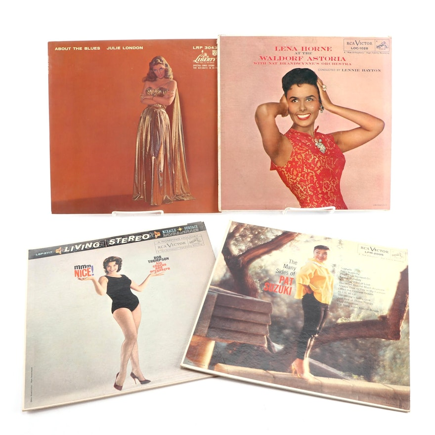 Easy Listening, Blues, and Jazz Vinyl Records Including Julie London