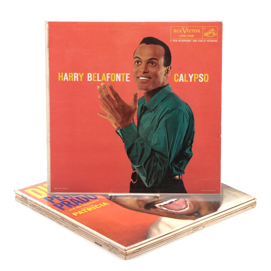 Calypso and Jazz Vinyl Records Including Harry Belafonte