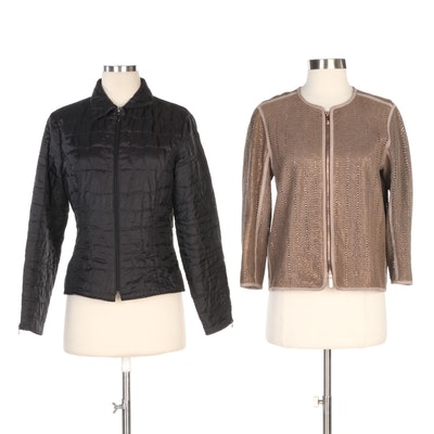 Lafayette 148 and Anne Fontaine Womens Zip Up Jackets