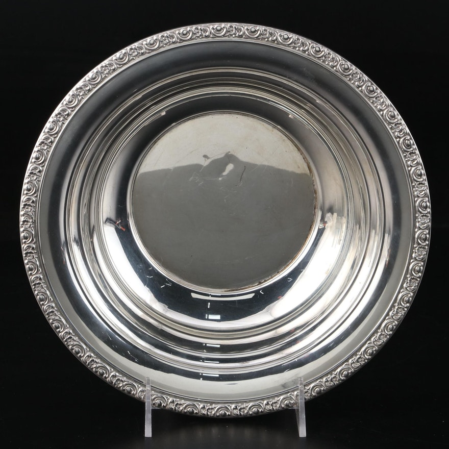 Mount Vernon Sterling Silver Serving Bowl, Early 20th Century
