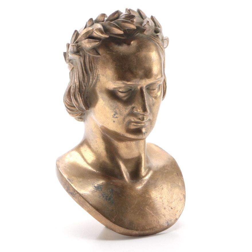 Ferdinand Barbedienne Bronze Caesar Bust, Late 19th Century