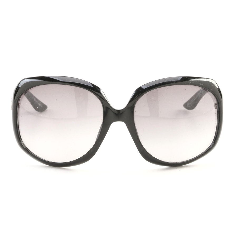Christian Dior Glossy 1 Black Framed Sunglasses with Case