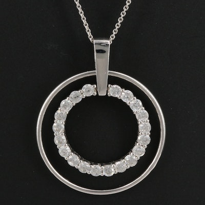 Sterling Silver Concentric Circle Pendant
