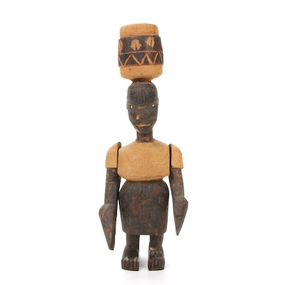 Makonde Style Carved-Wood Figure, East Africa