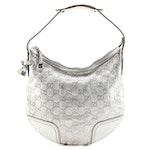 Gucci Princy GG Metallic Leather Hobo Bag