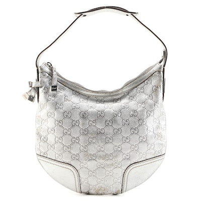 Gucci Princy GG Metallic Leather Hobo Bag