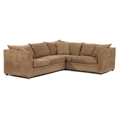 Klaussner Sectional Sofa with Sleeper Section