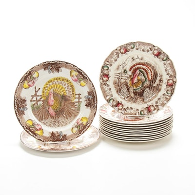 "Johnson Brothers ""His Majesty"" and ""King Tom"" Ceramic Plates"