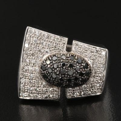 14K Diamond Ring with European Shank