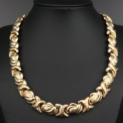 14K Necklace with Black Onyx Accents