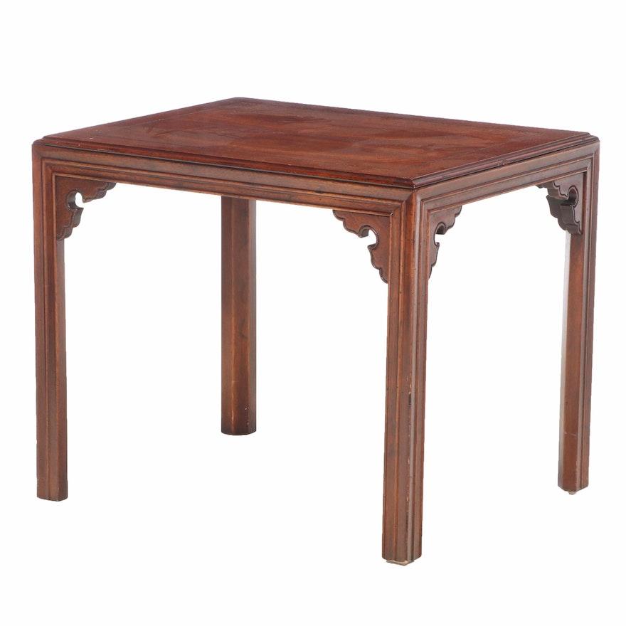 Henredon Chinese Style Mahogany Side Table, Late 20th Century