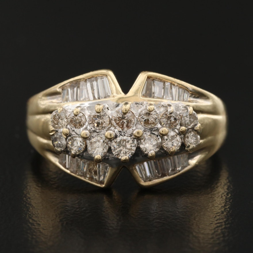 14K 1.15 CTW Brown Diamond Ring