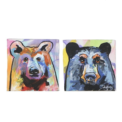 Marc Broadway Acrylic Paintings of Bears, 21st Century