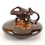 Jeanette Carick Swing for Rookwood Pottery Standard Glaze Nasturtiums Ewer, 1900