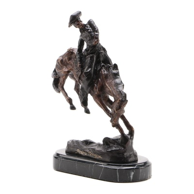 "Bronze Sculpture After Frederic Remington ""The Outlaw"""