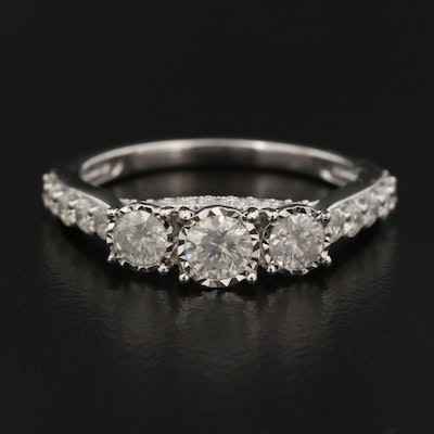 14K 1.00 CTW Diamond Illusion Set Ring
