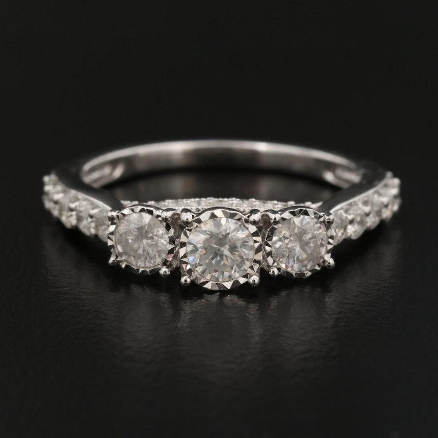 14K 1.00 CTW Diamond Illusion Set Ring