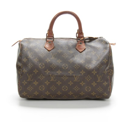 Louis Vuitton Speedy 30 in Monogram Canvas and Vachetta Leather